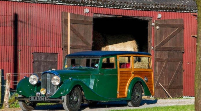 Finding Your Station – 1937 Bentley 4.5-litre 'Woodie' shooting brake with coachwork by Vincent's of Reading – Registration DLO 934, chassis B142JD – 1937 Bentley shooting brake formerly owned by Mulberry founder Roger Saul to be auctioned at Goodwood Revival sale, 8th September 2018 by Bonhams with an estimate of £100,000 to £125,000 ($129,000 to $162,000, €112,000 to €140,000 or درهم475,000 to د)