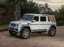 A Mammoth Merc – 2017 Mercedes-Maybach G650 V12 landaulet – Limousine, convertible and off-roader combined created by Mercedes-Maybach to be sold for charity by Bonhams on 16th October 2017 at their Zoute Sale in Knokke-Heist, Belgium.