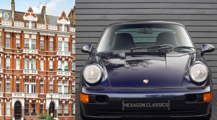 A Porsche or a Pad? – One bedroom, first floor flat in Cadogan Gardens, Chelsea, London, SW3 for sale for just £175,000 through Russell Simpson. Alternatively Hexagon Classics have a 1992 Porsche 911 (964) Carrera RS Lightweight from Hexagon Classics. They have one on offer for £179,995.