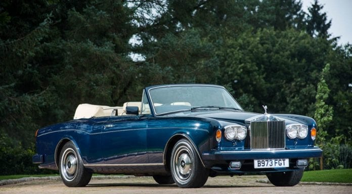 1984 Rolls-Royce Corniche convertible – Originally owned by the late Emir of Qatar, Sheikh Hamad bin Khalifa Al Thani (1995 – 2013) – Estimate of £100,000 to £120,000 ($124,000 to $149,000, €112,000 to €135,000 or درهم,455,000 to درهم,546,000) – Silverstone Auctions NEC Classic Motor Show Sale in Birmingham on 12th and 13th November 2016