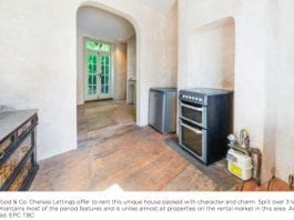 """A Rental Ruin – Chelsea estate agent optimistically markets an £850 per week house with unpainted walls and an exposed gas meter by announcing: """"It does have a new boiler"""" – 62 Christchurch Street, Chelsea, London, SW3 4AR, United Kingdom – To rent through John D. Wood & Co. for £850 per week ($1,108, €955 or درهم4,070 per week)."""