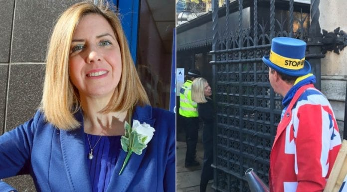 """Moron of the Moment – Andrea Jenkyns MP – In calling the legendary Steve Bray an """"anti-democratic plonker"""" obstinate Brexiteer Andrea Jenkyns MP shows herself as a total prat."""