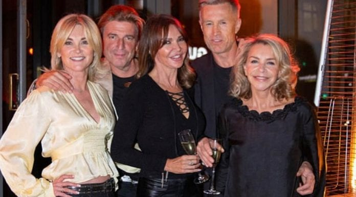 Anth' Swings Into Action – Anthea Turner and Lizzie Cundy – Will Anthea Turner's chum Lizzie Cundy be joining her to swing into action with a Cadbury's Flake at her forthcoming nuptials?