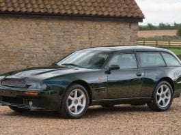 A Smoking Aston – 1996 Aston Martin V8 Sportsman coupé shooting brake conversion – To be auctioned by Bonhams on 13th May 2017 at Aston Martin's Newport Pagnell Works Service – Estimate of £300,000 to £350,000 ($384,000 to $449,000, €358,000 to €418,000 or درهم1.4 million to درهم1.6 million)