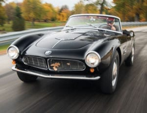 A rare roadster – 1959 BMW 507 Roadster Series II – RM Sotheby's Driven by Disruption sale, 10th December 2015, New York – £1.5 million to £1.7 million ($2.3 million to $2.6 million, €2.1 million to €2.4 million)