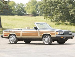 Back to LeBaron – 1986 Chrysler LeBaron Town & Country convertible to be offered for auction without reserve by Bonhams on behalf of the Evergreen Collection on 5th October 2015 at auction at the Simeone Foundation Automotive Museum in Philadelphia