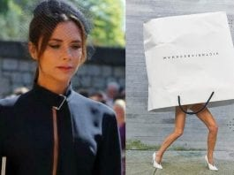 Bagging Beckham – Victoria Beckham sticks her head in a carrier bag – As Victoria Beckham takes the concept of being a 'bag lady' to another level, one could argue she'd do better to keep her head inside for good.
