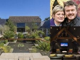 """Cleaning up – EuroMillions winners Paul and Justine Laycock to sell their £4.5 million """"eco mansion"""" Barnsley Hill Farm, Bibury, Gloucestershire, GL7 5LY"""
