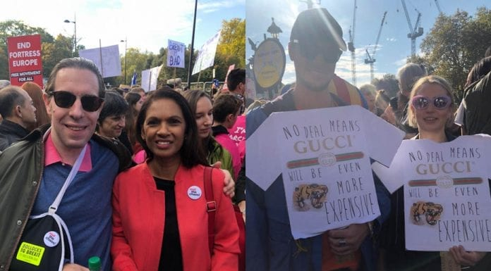 Bog Off Brexit – Matthew Steeples & Gina Miller at People's Vote March – Matthew Steeples reports on his experiences at the People's Vote March in London.