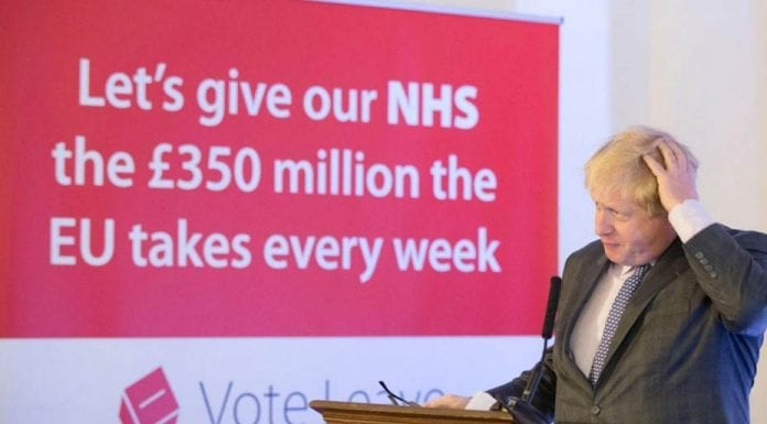 Bojo's Decline – Boris Johnson reminded of the lie he presented again and again