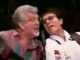 Can you see what it is yet? Rolf Harris and Cliff Richard