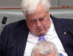 Clive Palmer's got that sinking feeling