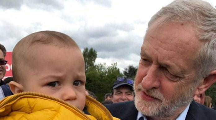 Another Corbyn Calamity – Jeremy Corbyn scares child in Harlow, Essex – Thursday 27th April 2017 – Chloe Pullara @educatedmole