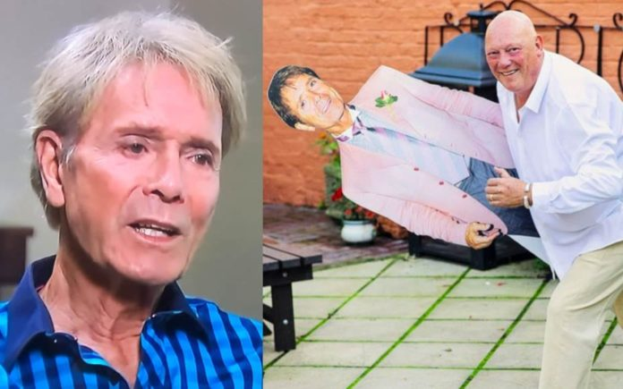 """Crackpot Cliff – Sir Cliff Richard on Brexit and speaking to himself – Cliff Richard shares his bizarre views about Brexit, losing friends, speaking to himself and liking being addressed by his title just as a cardboard cutout of him is nicked (thus causing """"airport chaos"""")."""