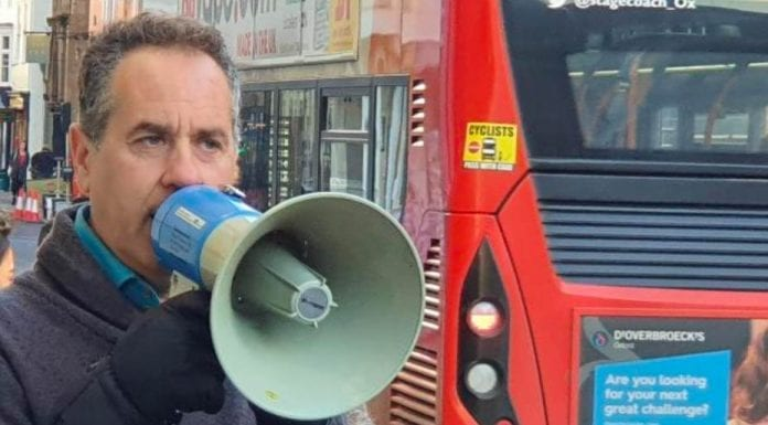 "The Megaphone Maniac – Activist Danny Shine caught shouting in Oxford – Lunatic from London caught shouting ""stop reproducing!"" through a megaphone in Oxford; Danny Shine previously got prosecuted for shouting about masturbation."