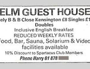 Elm Guest House advertisement FI 1