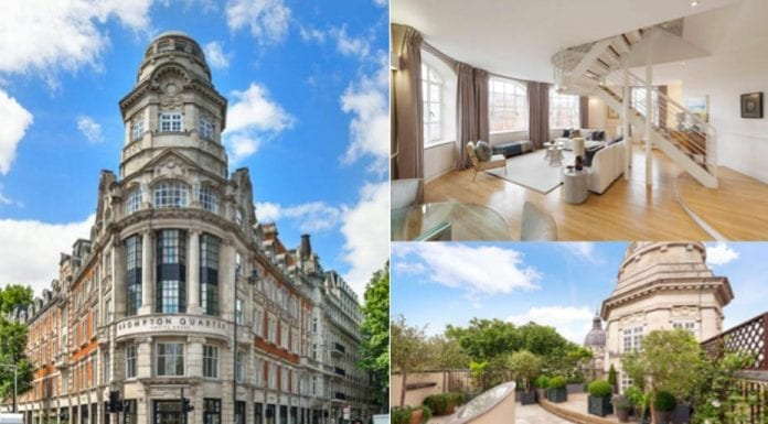 Empire State of Knightsbridge – The Penthouse, Empire House, 220 – 244 Brompton Road and 2 – 7 Thurloe Place, Brompton Quarter, Knightsbridge, London, SW7 2RU, United Kingdom – For sale for £8.25 million ($10.51 million, €9.39 million or درهم38.62 million) through JLL