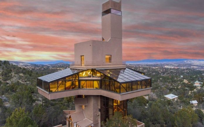 Tall Poppy Syndrome – North America's tallest single-family residence – Falcon Nest, 2365 Skyline Drive, Prescott, Arizona, AZ 86303, United States of America – £1.2 million ($1.5 million, €1.4 million million or درهم5.5 million) through Russ Lyon Sotheby's International Realty and to be auctioned with a minimum price of £581,000 ($750,000, €688,000 or درهم2.8 million) on 25th May by Concierge Auctions – Designed by Sukumar Pal, AIA in 1994