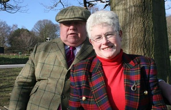 """Badly dressed bigoted property tycoons Fergus and Judith Wilson – Fat former boxer Fergus Wilson and his badly dressed Hyacinth Bucket-like wife banned """"coloured people"""" from renting from them in Kent"""