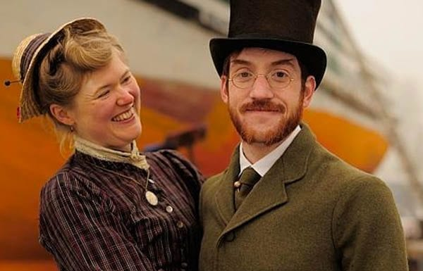 Gabriel and Sarah A. Chrisman – Port Townsend, Washington State residents Gabriel and Sarah A. Chrisman live as if they are Victorians. They get a lot of abuse.