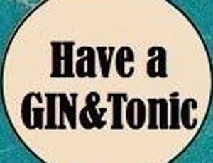 Have a gin and tonic 1