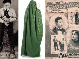 Five of the Best – Bonhams' Gentleman's Library Sale – Harry Houdini's escape prop sack to be sold alongside all manner of other unusual items on Valentine's Day, 14th February 2017, at their Knightsbridge, London saleroom.