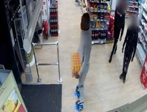 Omaree Lindsay stands accused of stealing a crate of Lucozade from a Co-Op in Mitcham whilst on a hoverboard