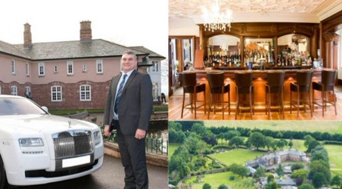 In For A Penny… Hammer Hill House, Romsley Lane, Romsley, Bridgnorth, Shropshire, WV15 6HW, United Kingdom – For sale for £3.95 million ($5 million, €4.5 million or درهم18.4 million) with agents Knight Frank. Owned by Poundland founders Steve and Tracy Smith currently.