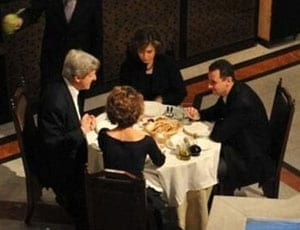 John Kerry dines with Bashar al Assad and their wives FI 1