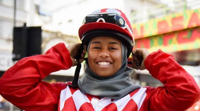 Hero of the Hour – Newbie jockey Khadijah Mellah – First jockey to race in a hijab, Peckham teenager Khadijah Mellah brings fresh blood to racing and will make history tomorrow.