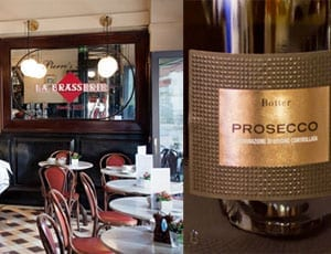 La Brasserie to offer complimentary prosecco on the evening of 2nd September