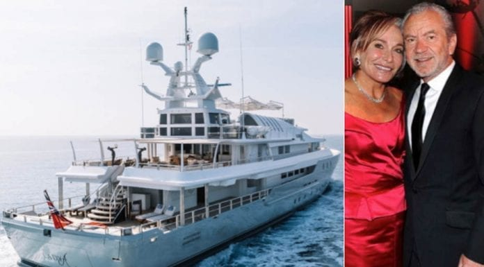 A Sugar Palace – Lord Sugar puts his gin palace up for sale for £12.7 million ($16.5 million, €14 million or درهم60.6 million) with brokers Edmiston after owning it for just two years; it was originally built for the controversial tycoon Alan Bond.