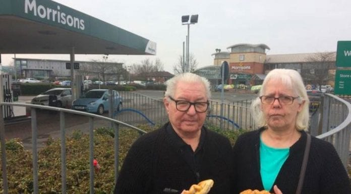Wallies of the Week – Angry pie loving duo Linda and Tony Gilkes – Middlesborough couple Linda and Tony Gilkes go to the press after Morrisons refuse to sell them meat pies before 9am.
