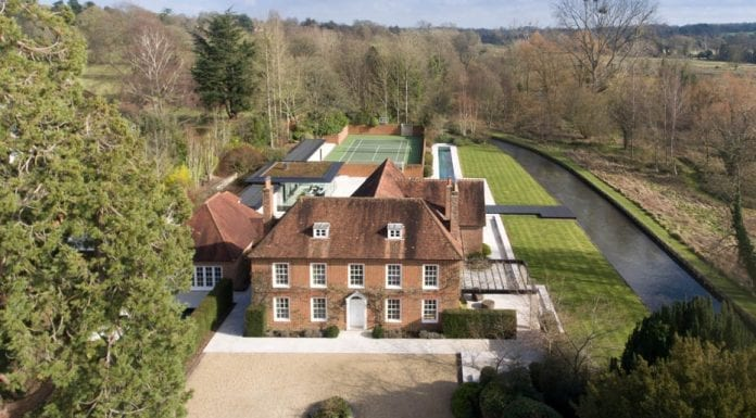 """Worthy Water – 18th century house in a """"fairytale"""" setting beside the famous River Itchen chalkstream is not quite what one would expect – Lower Chilland House, Martyr Worthy, Winchester, Hampshire, SO21 1EB – For sale through Savills, priced at £7.5 million ($9.7 million, €8.7 million or درهم35.8 million)"""