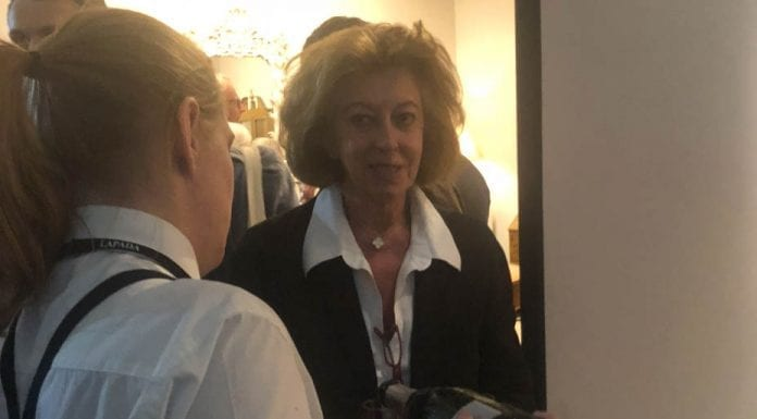 Picture of the Week – A Bottled Marie-Claire Baroness von Alvensleben – Racist Marie-Claire, 'Baroness' von Alvensleben spotted dashing for sparkling wine at LAPADA antiques fair in London's Berkeley Square, W1.