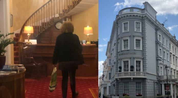 The Dirty Diplomat – The Diplomat Hotel, Chesham Street, Belgravia, SW1 – Belgravia hotel which counts racist Marie-Claire, Baroness von Alvensleben amongst its residents condemned for being utterly disgusting.