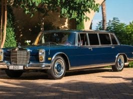 A Dictator Rides – 1969 Mercedes-Benz 600 Four-Door Pullman – To be auctioned with an estimate of of £157,000 to £196,000 ($200,000 to $250,000, €176,000 to €220,000 or درهم735,000 to درهم918,000) and will be sold at RM Sotheby's Peterson Automotive Museum auction on 8th December.
