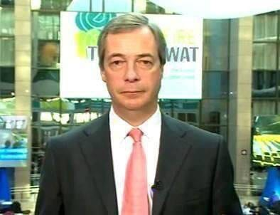 Nigel Farage chose to pose in rather an unfortunate position 1
