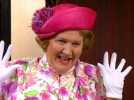 British actress and singer Patricia Routledge CBE (born Katherine Patricia Routledge)