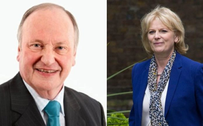 Philip Fowles and Anna Soubry