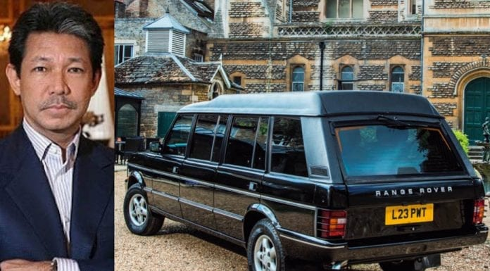 A Romping Royal Range Rover – 1994 ex-Prince Jefri Range Rover limo – Range Rover limousine originally used by the sex mad Prince Jefri Bolkiah of Brunei for sale for 94% less than its original £323,000 cost – For sale at Silverstone Auctions NEC Classic Motor Show 2019 sale in Birmingham on Saturday 9th November 2019 with an estimate of £18,000 to £24,000 ($23,100 to $30,700, €20,900 to €27,800 or درهم84,700 to درهم112,900).