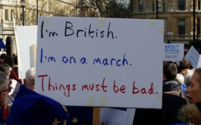 Picture of the Week – Protesting British Style – Amusing signs from the Unite for Europe march