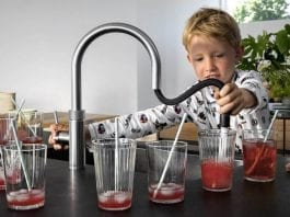 Watery Child Labour – Quooker Boiling-Water Tap and Child Labour – Advert for a Quooker boiling-water tap featuring a child in pyjamas using it was plainly the choice of a deranged marketing executive.