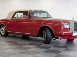 Red Rollers – H&H Classics Imperial War Museum Duxford sale on 29th March 2017 – 1990 Rolls-Royce Corniche III convertible estimated at £50,000 to £60,000 ($62,000 to $74,000, €58,000 to €69,000 or درهم228,000 to درهم273,000) – 1935 Rolls-Royce 20/25 limousine estimated at £24,000 to £26,000 ($30,000 to $32,000, €28,000 to €30,000 or درهم109,000 to درهم118,000)