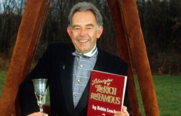 """Robin Leach (1941 – 2018) – """"With champagne wishes and caviar dreams"""" was the famous signoff of London born Lifestyles of the Rich and Famous host Robin Leach."""