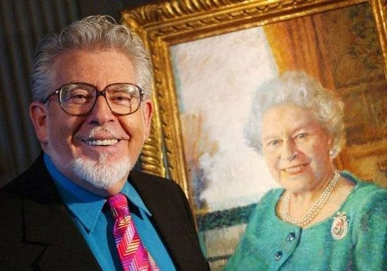 Rolf Harris and the Queen 1