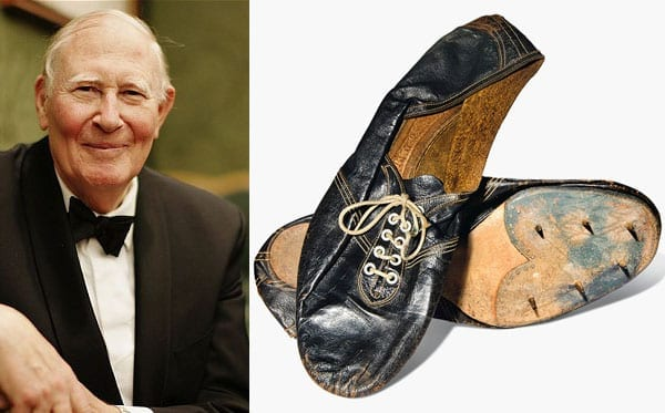 Sir Roger Bannister and his famous running shoes 1