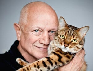 Steven Berkoff with his cat Apple by Aliona Adrianova FI 1