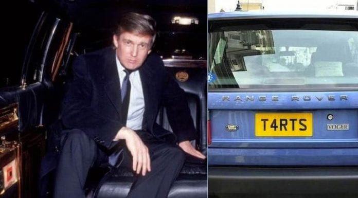 """Tarts & Trump – Ex-Donald Trump limo and Range Rover with the perfect plate for the """"pussy grabber"""" to be auctioned side-by-side at Goodwood on 19th March 2017 – 2000 4.6-litre Land Rover Vogue with registration plate T4 RTS for £10,000 to £15,000 ($12,300 to $18,400, €12,000 to €17,000 or درهم 45,000 to درهم 67,700) and former Donald Trump 5.0-litre Cadillac 'Golden Series' by Dillinger Coach Works for £10,000 to £12,000 ($12,300 to $14,700, €12,000 to €14,000 or درهم 45,000 to درهم 54,000)"""