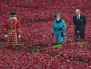 The Queen and the Duke of Edinburgh visit Blood Swept Lands and Seas of Red FI 1